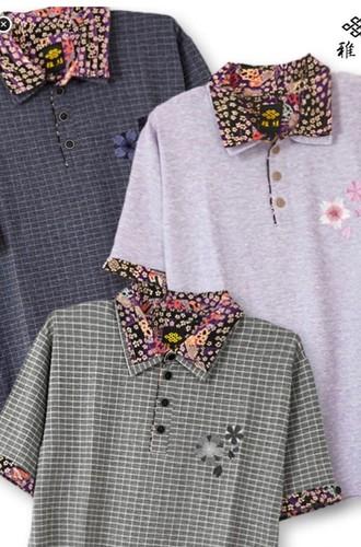 流儀圧搾 ポロシャツ