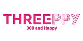 THREEPPY 300 and Happyのロゴ画像